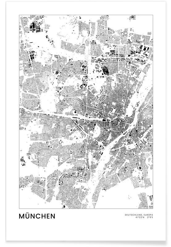 Munich, Noir & blanc, München affiche