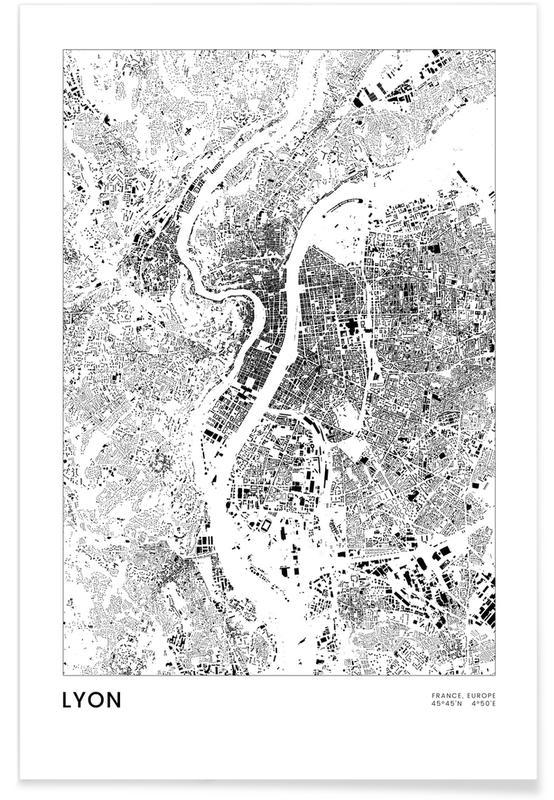 Black & White, Lyon, Lyon Poster