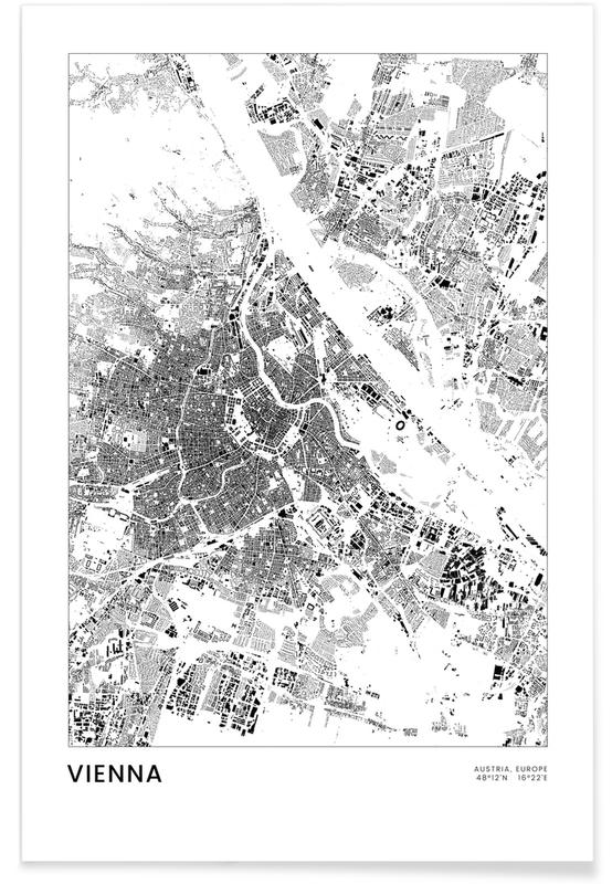 Blanco y negro, Vienna póster