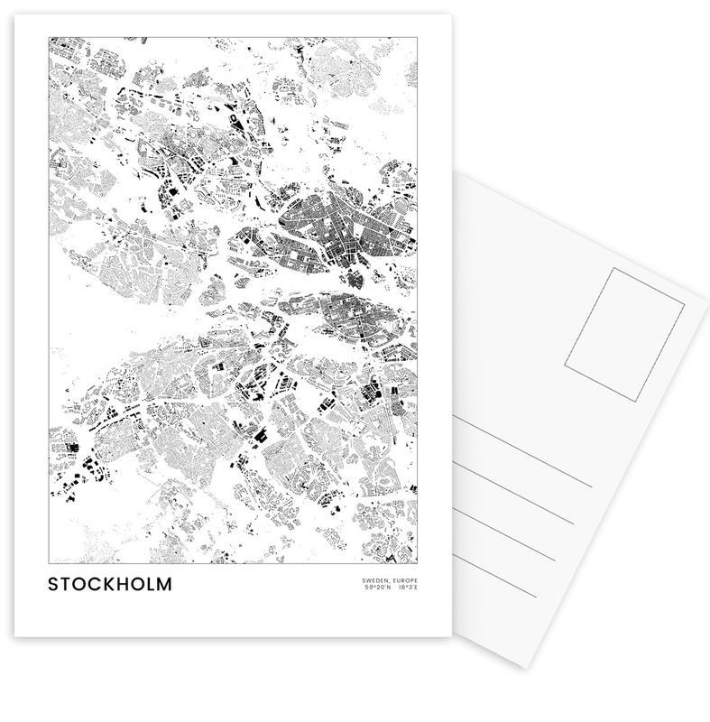 Noir & blanc, Stockholm, Stockholm cartes postales