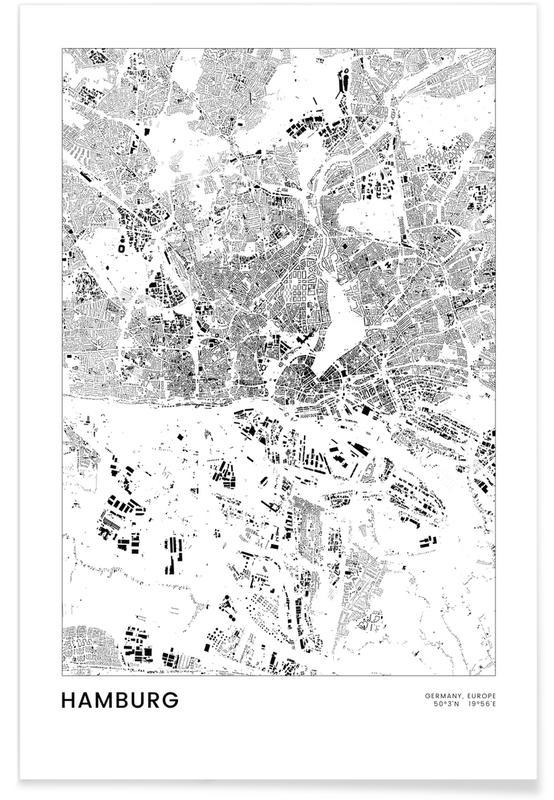 Hamborg, Sort & hvidt, Hamburg Plakat