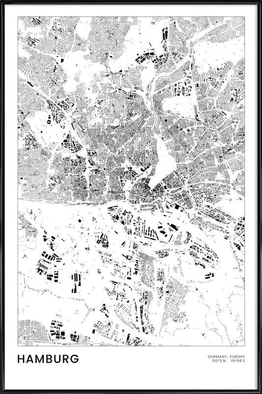 Hamburg -Bild mit Kunststoffrahmen
