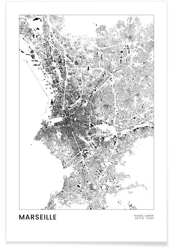 Schwarz & Weiß, Marseille -Poster
