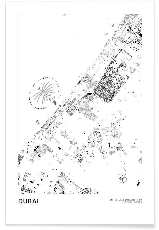 Sort & hvidt, Dubai Plakat