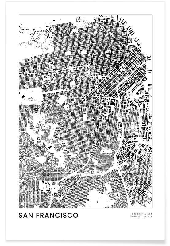 San Francisco, Sort & hvidt, San Francisco Plakat