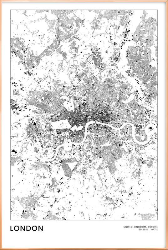 London Poster i aluminiumram