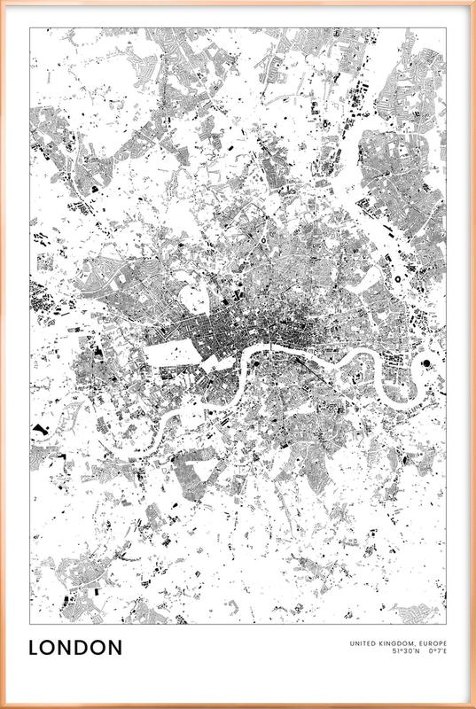 London poster in aluminium lijst
