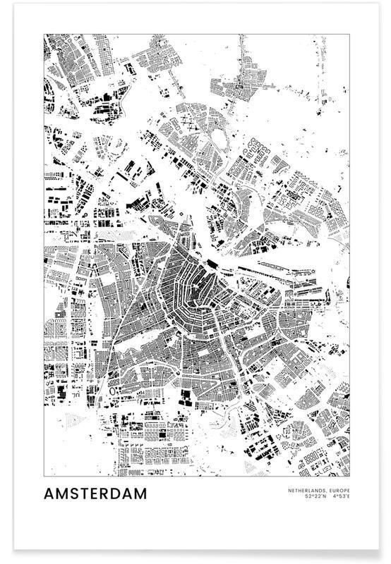 Sort & hvidt, Amsterdam, Amsterdam Plakat
