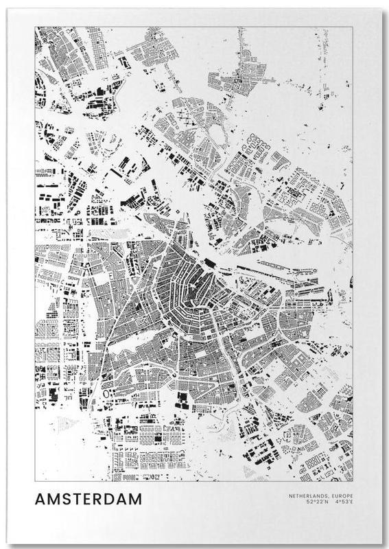 Zwart en wit, Amsterdam, Amsterdam notitieblok