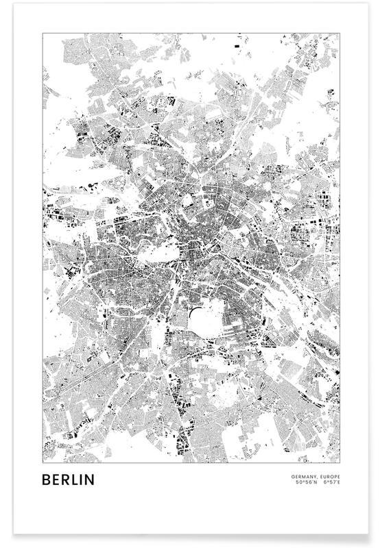 Berlin Map affiche