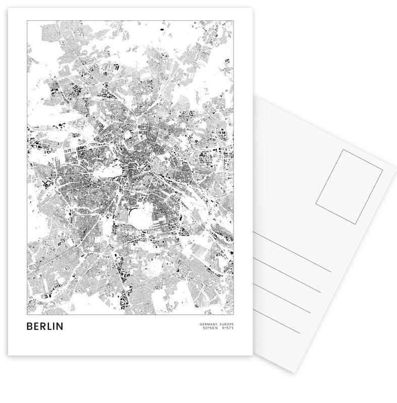 Berlin Map -Postkartenset