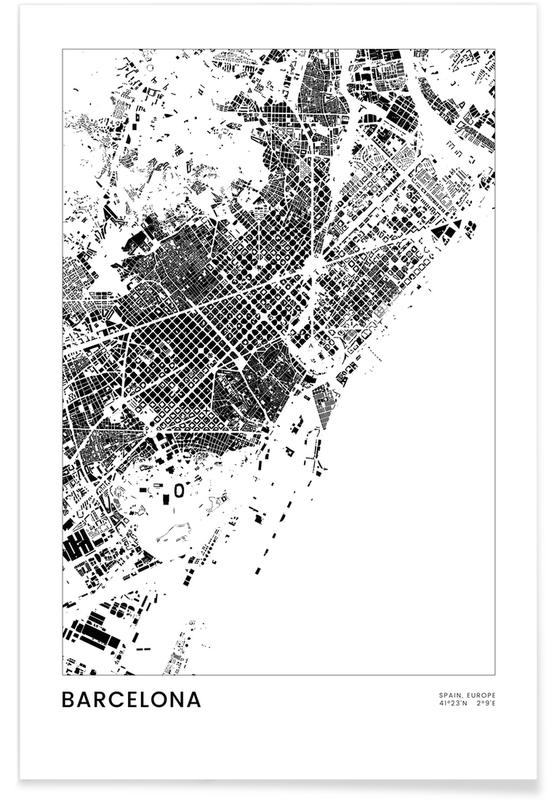 Sort & hvidt, Barcelona, Barcelona Plakat