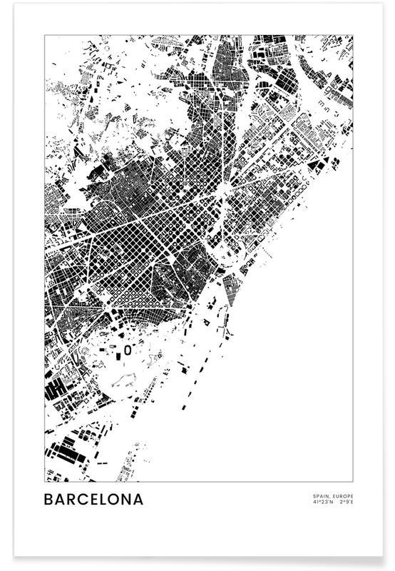 Bianco & nero, Barcelona, Barcelona poster