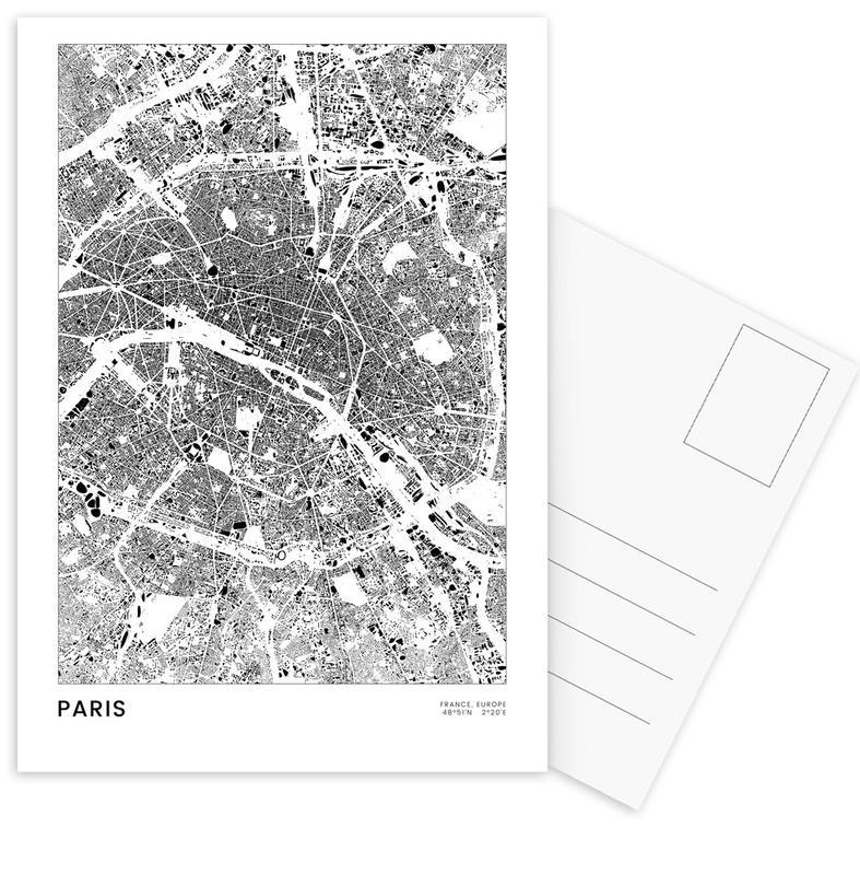 Black & White, Paris, Paris Postcard Set