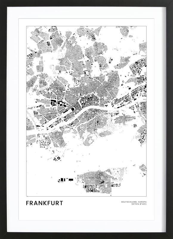 Frankfurt affiche sous cadre en bois