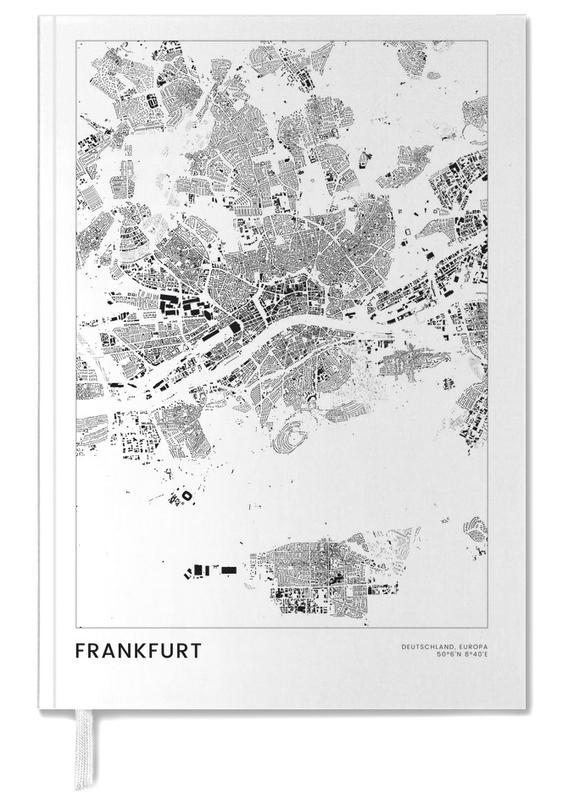 City Maps, Travel, Frankfurt, Black & White, Frankfurt Personal Planner
