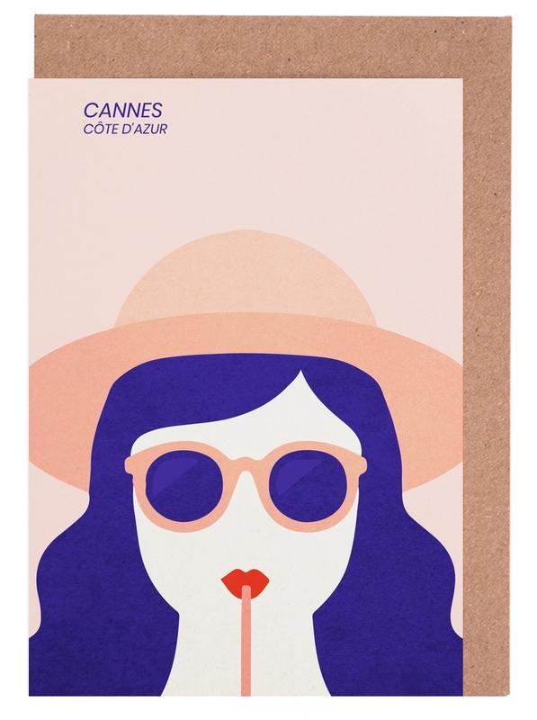Cannes -Grußkarten-Set