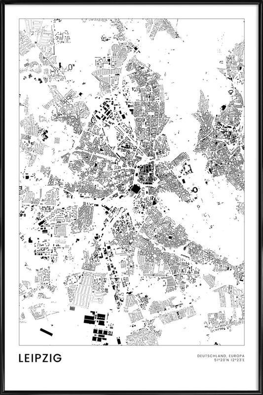 Leipzig -Bild mit Kunststoffrahmen
