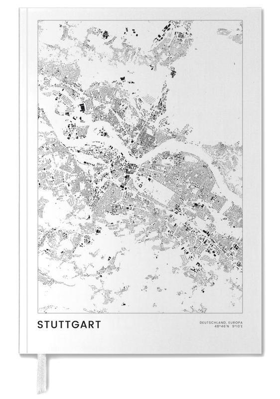 Schwarz & Weiß, Stadtpläne, Reise, Stuttgart -Terminplaner