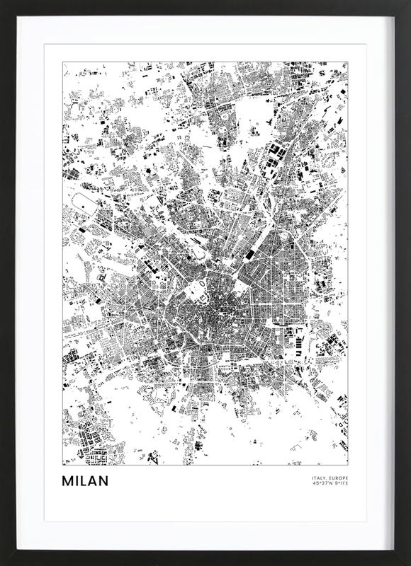 Milan Poster i träram