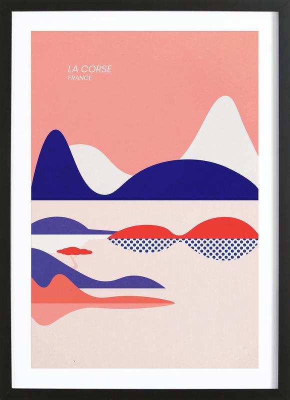 La Corse -Bild mit Holzrahmen