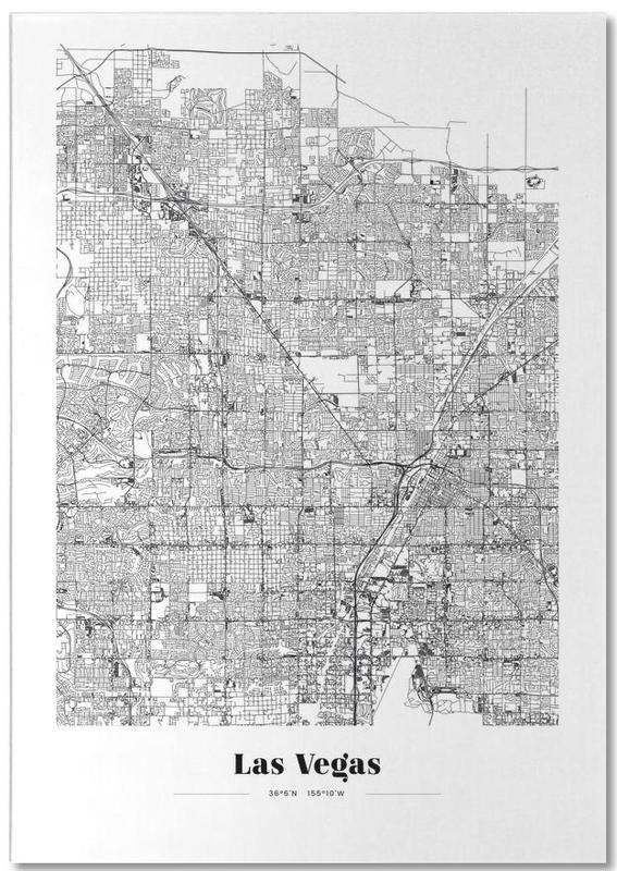 Las Vegas, Noir & blanc, Cartes de villes, Voyages, Las Vegas bloc-notes