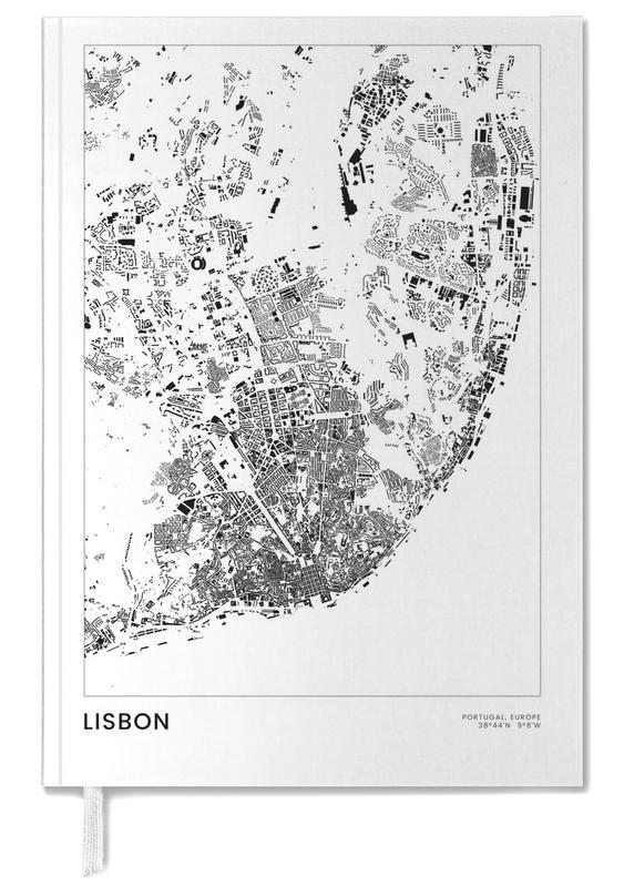 Schwarz & Weiß, Stadtpläne, Reise, Lissabon, Lisbon -Terminplaner