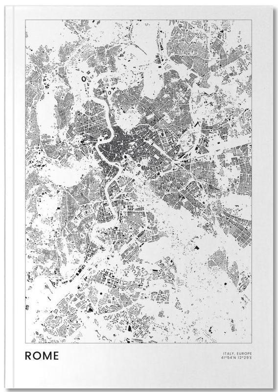 Stadtpläne, Rom, Reise, Schwarz & Weiß, Rome Notebook