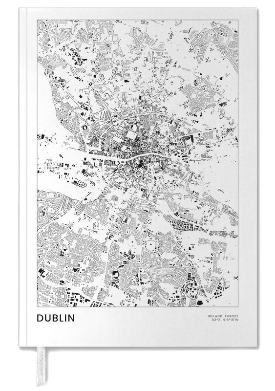 Stadskaarten, Dublin, Reizen, Zwart en wit, Dublin agenda