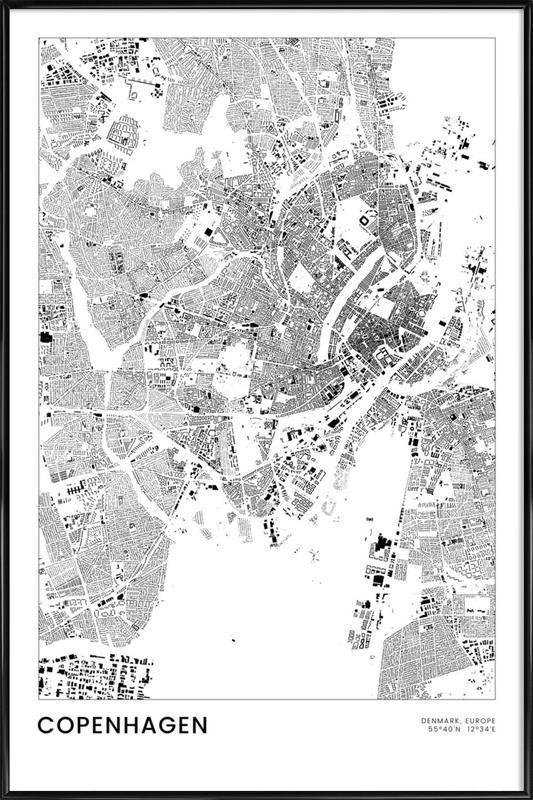 Copenhagen ingelijste poster