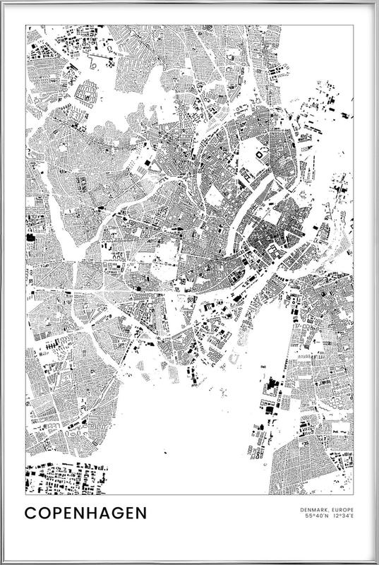 Copenhagen -Poster im Alurahmen
