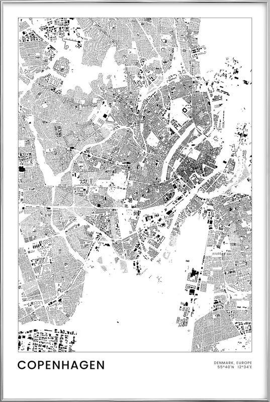 Copenhagen poster in aluminium lijst