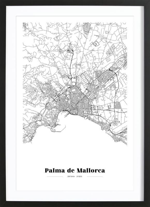 Palma de Mallorca affiche sous cadre en bois