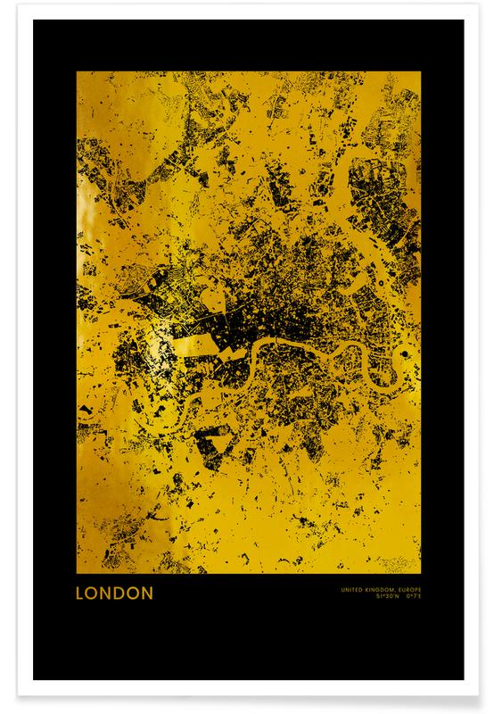 London-Gold -Poster