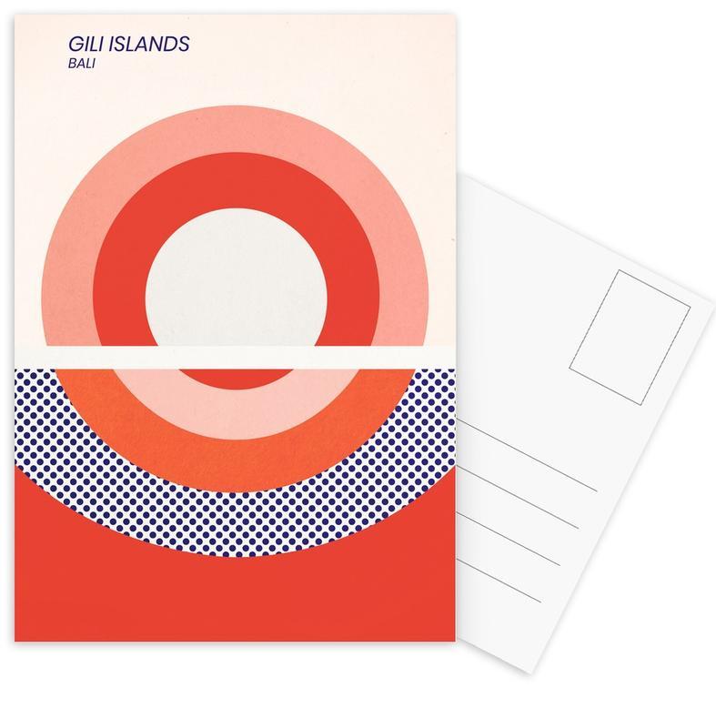 Gili Islands -Postkartenset