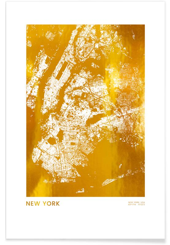 New York-Gold -Poster