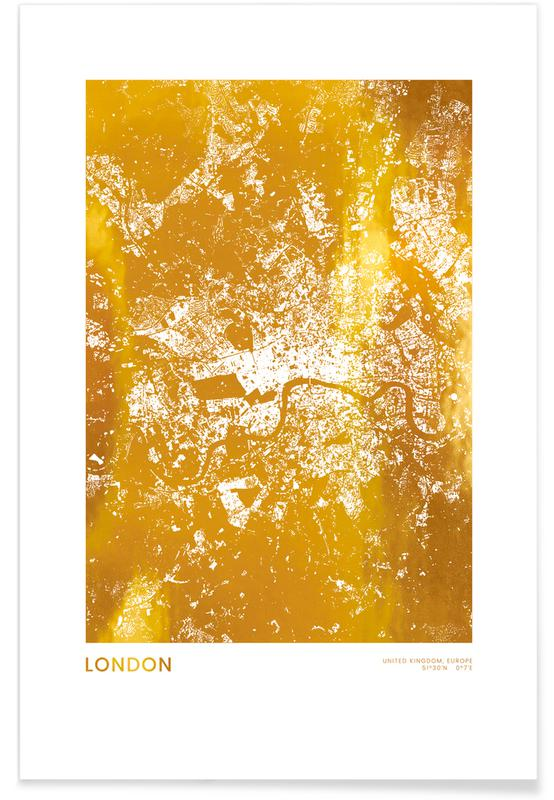 Gold London Poster