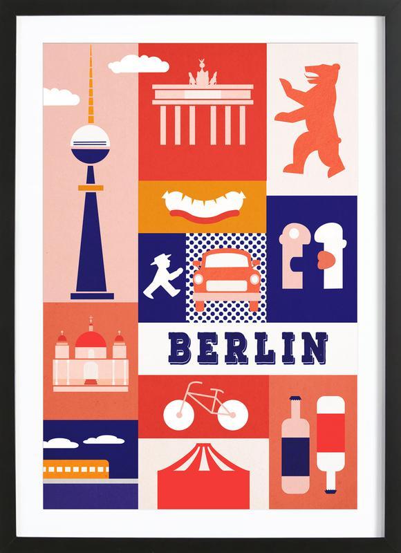 Berlin Icons Framed Print