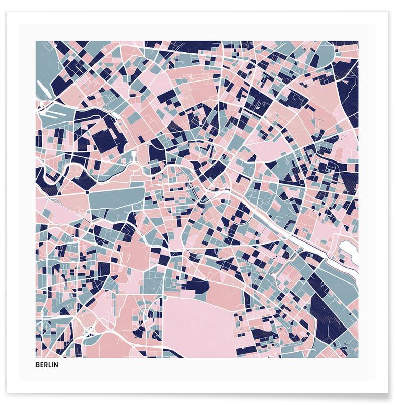 City Maps, Berlin III Poster