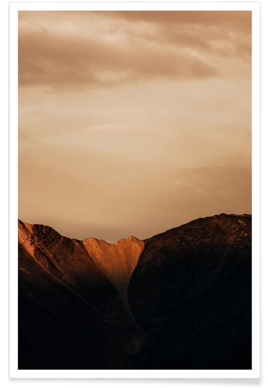 Bjerge, Mountain Heart Plakat