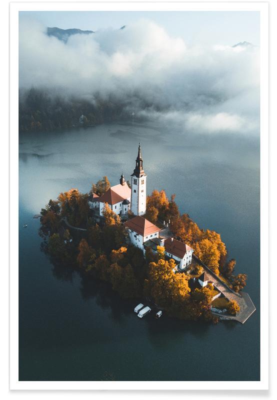 Monuments et vues, Lake Bled affiche