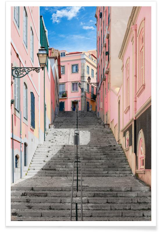Pink Stairway Poster