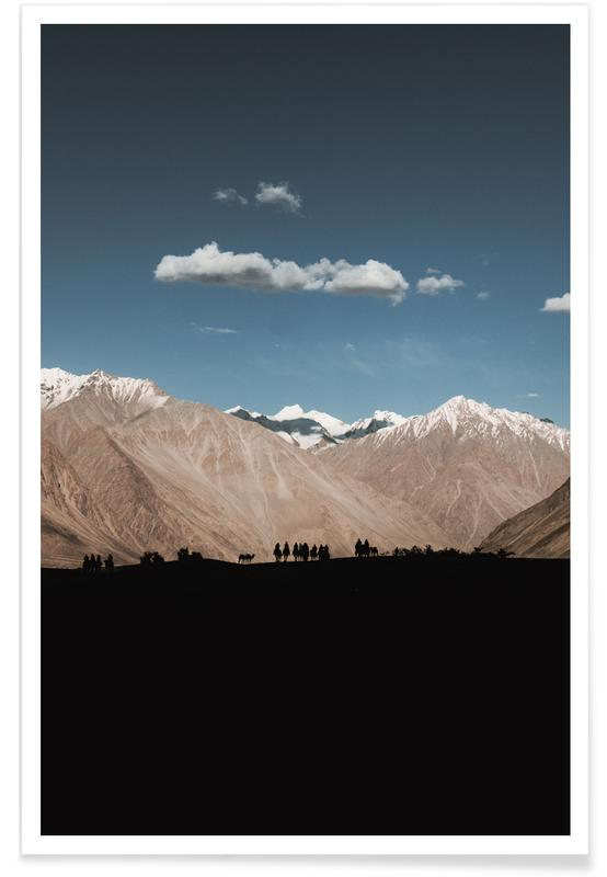 Berge, Setting Out -Poster