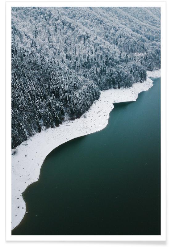 Océans, mers & lacs, Forêts, Snowy Banks affiche