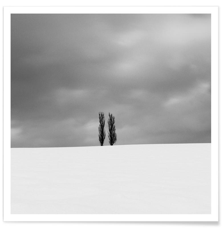 Zwart en wit, Lucht en wolken, Cold Horizon poster
