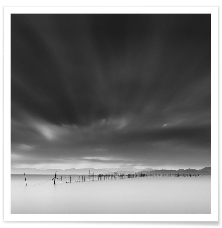 Black & White, Skies & Clouds, Sweeping Skies Poster