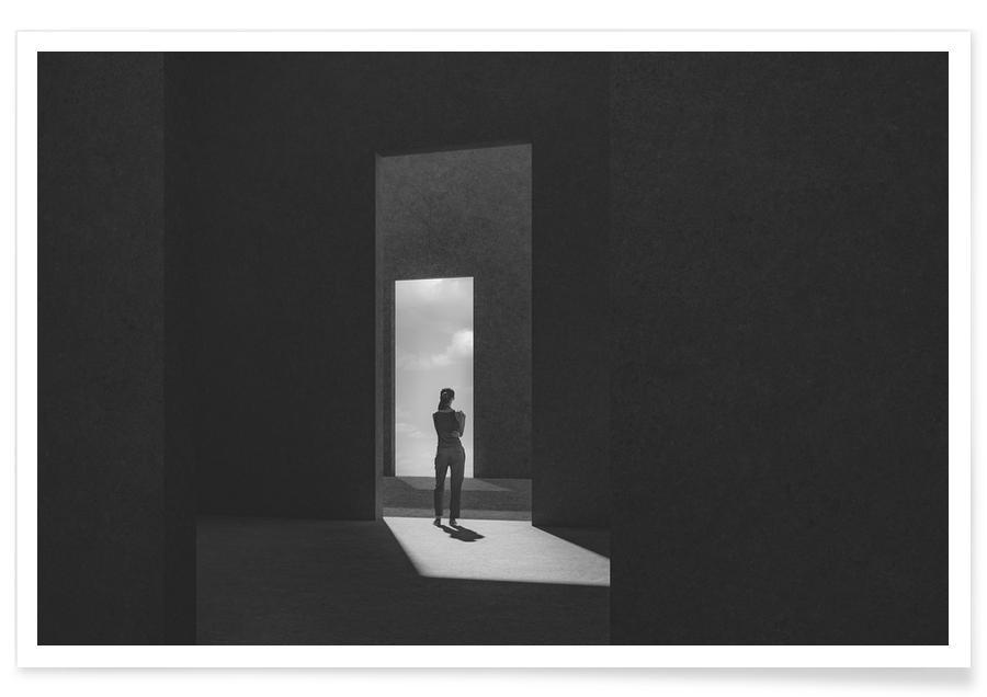 Architectonische details, Zwart en wit, Extrospection poster