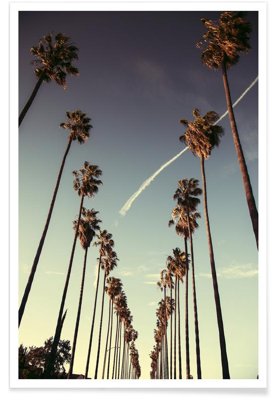 Los Angeles, Palmer, Seværdigheder & landmærker, Solnedgange, Rejser, On Sunset Plakat