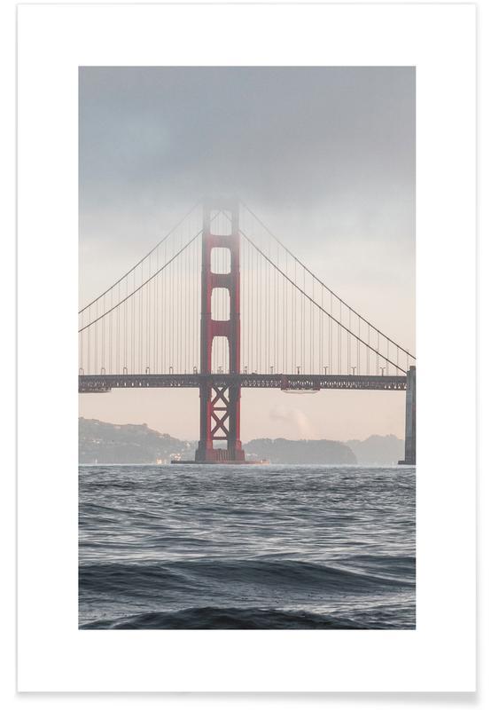 Seværdigheder & landmærker, Rejser, Broer, Golden Gate Bridge Plakat