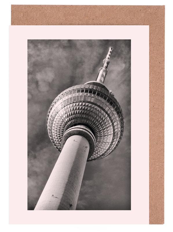 Berlin, Sights & Landmarks, Berliner Fernsehturm Greeting Card Set